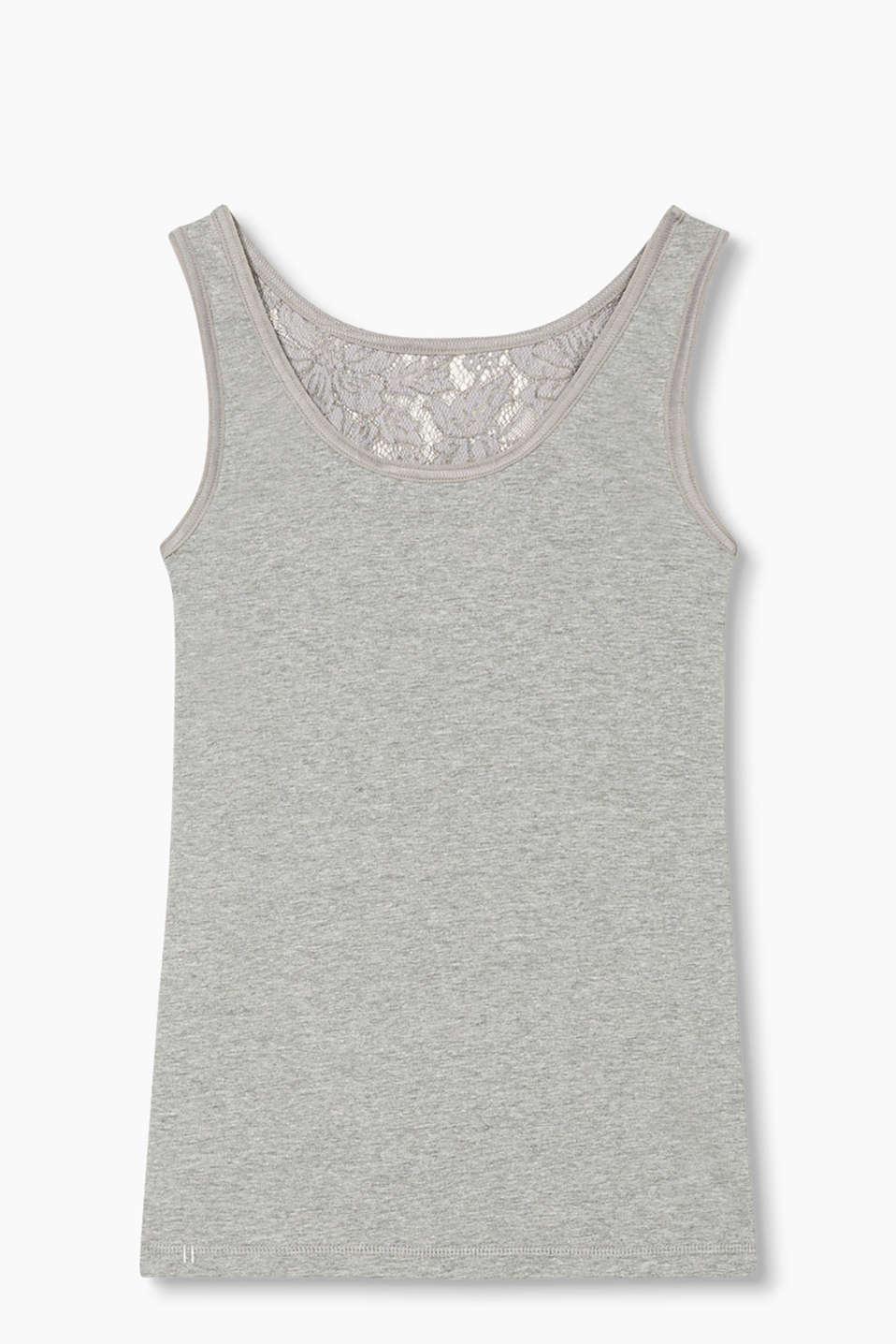 Collection: BURBANK - soft vest in jersey and lace