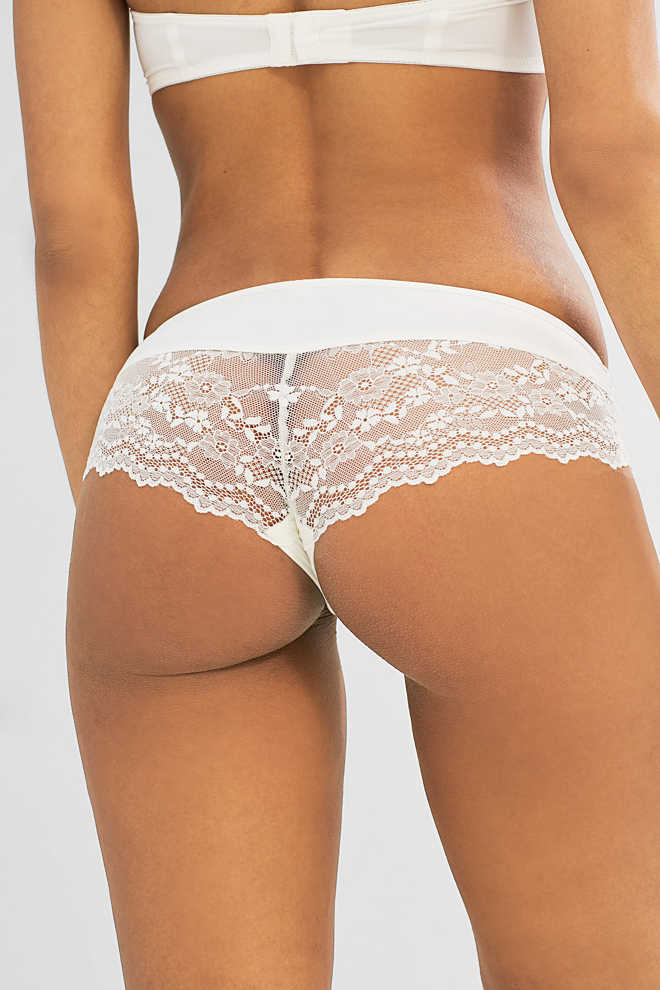 Esprit / Brazilian hipster shorts with elegant lace