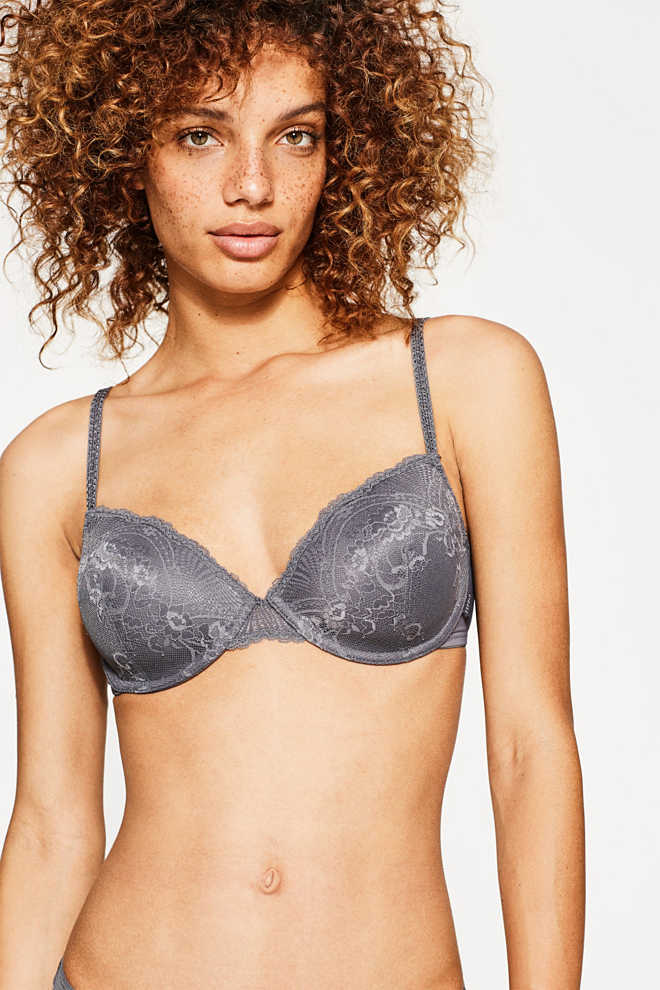 Esprit / Padded underwire bra with lace