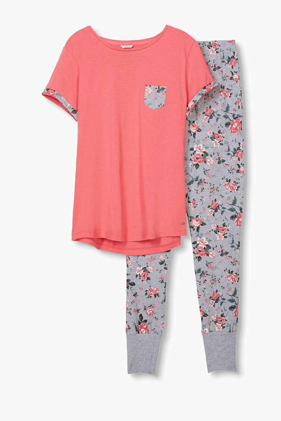 with a pretty rose print