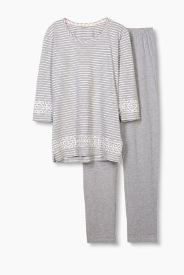 Jersey pyjamas in soft blended cotton