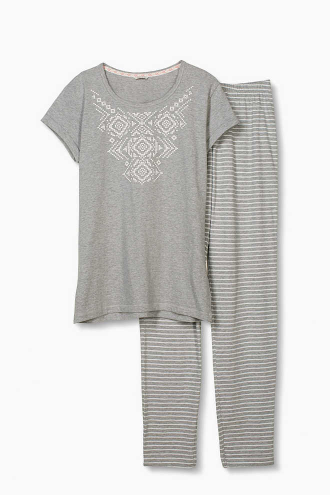 Esprit / Soft jersey pyjamas in blended cotton