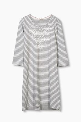Soft jersey nightshirt in a cotton blend