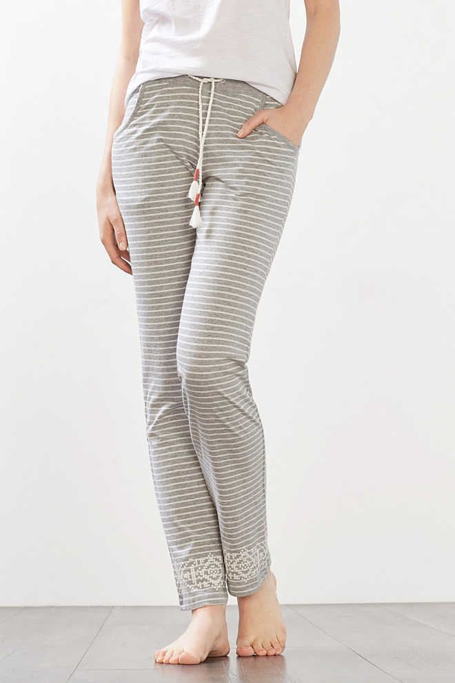 Esprit / Soft jersey trousers in blended cotton