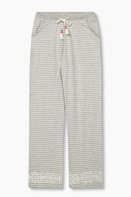Soft jersey trousers in blended cotton