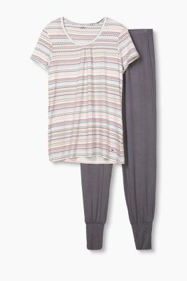 Soft stretch jersey pyjamas