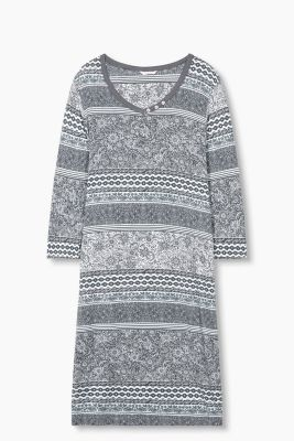 Nightshirt with an all-over floral print