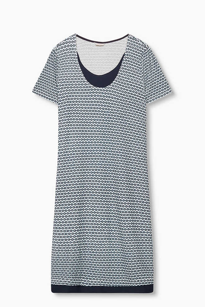 Esprit / Mock layer stretch jersey nightshirt