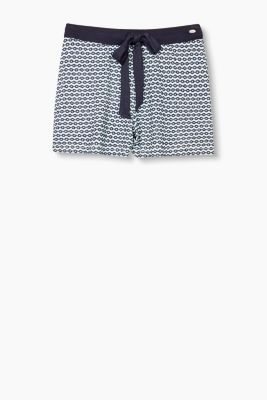 Soft pyjama shorts with all-over print