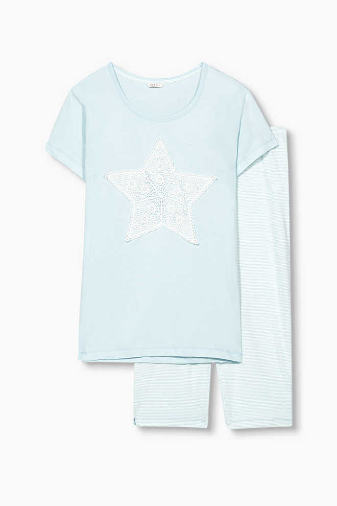 Esprit / Soft jersey pyjamas in 100% cotton