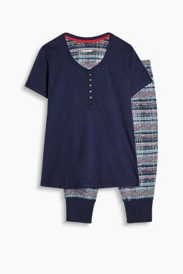 Cotton blend jersey pyjamas