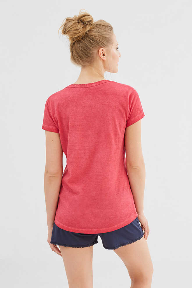 Esprit / Soft printed T-shirt in a cotton blend