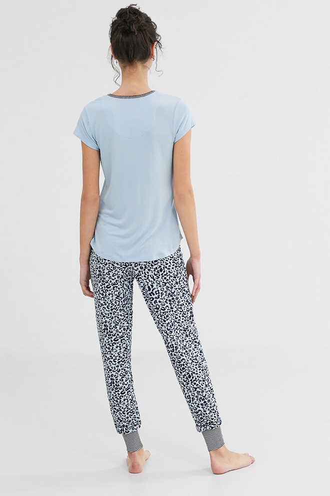 Esprit / Printed stretch jersey pyjamas