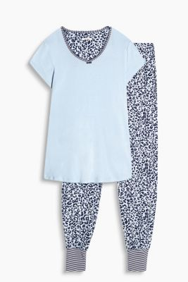 Printed stretch jersey pyjamas