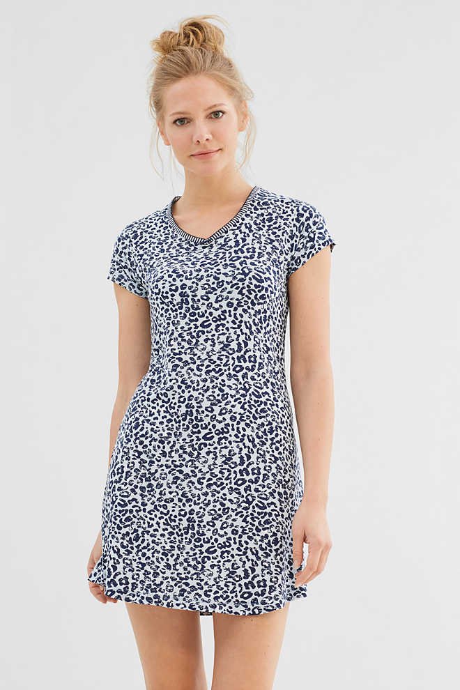 Esprit / Printed stretch jersey nightshirt