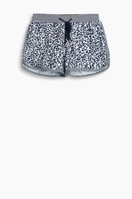Printed stretch jersey shorts
