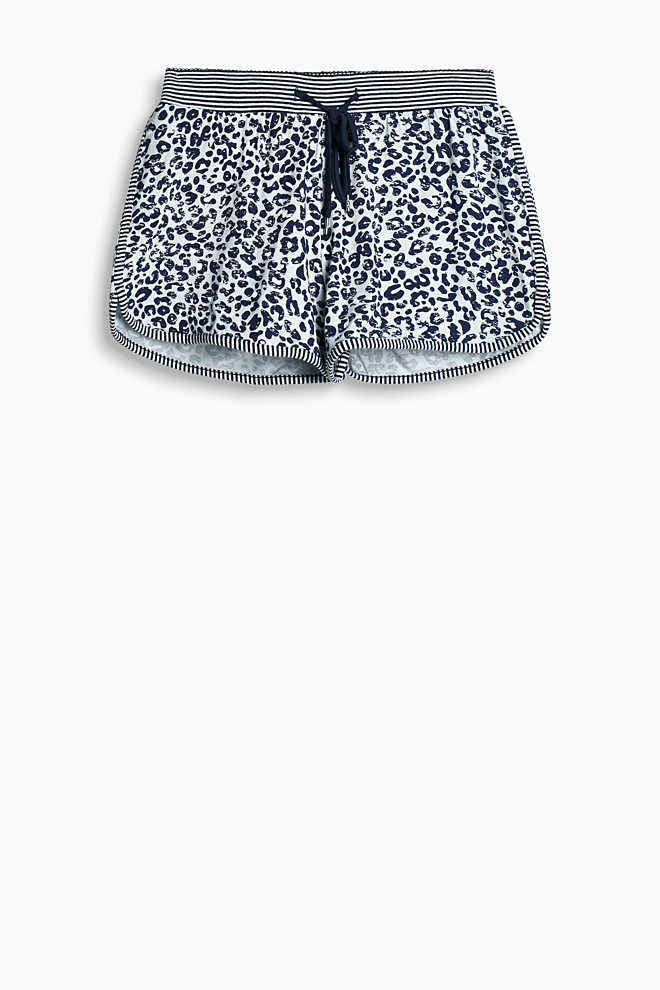 Esprit / Printed stretch jersey shorts