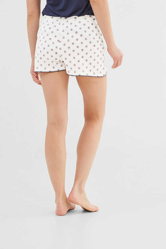 Esprit / Slub jersey shorts in 100% cotton