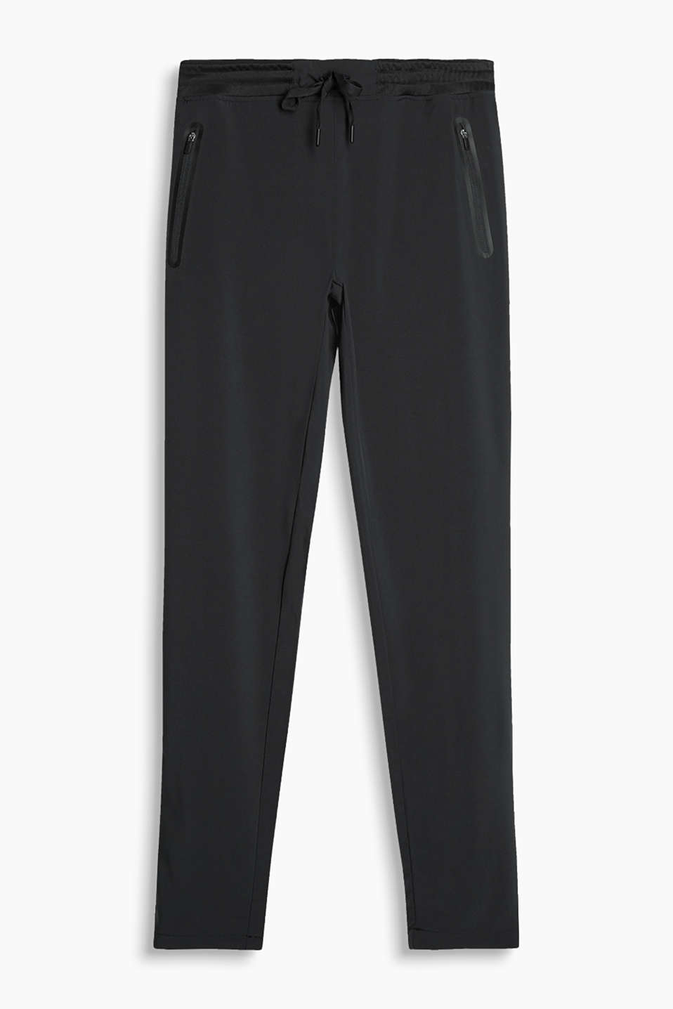 Light, high-performance tracksuit bottoms with zip pockets, E-DRY