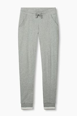 Lockere Sweat-Pants aus Baumwoll-Mix