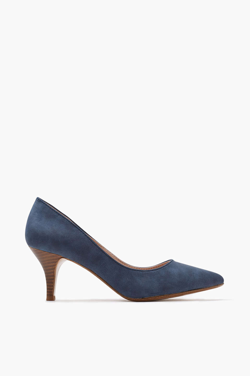 with a funnel-shaped stacked heel (approx. 7 cm)