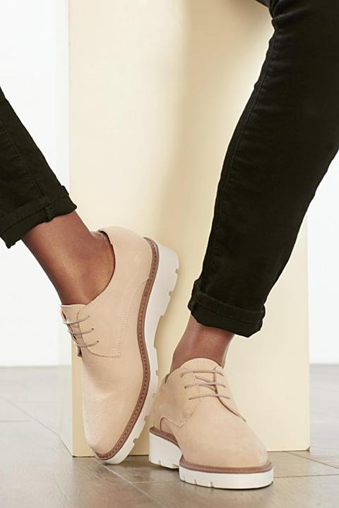 Chaussures à lacets modernes cuir velours