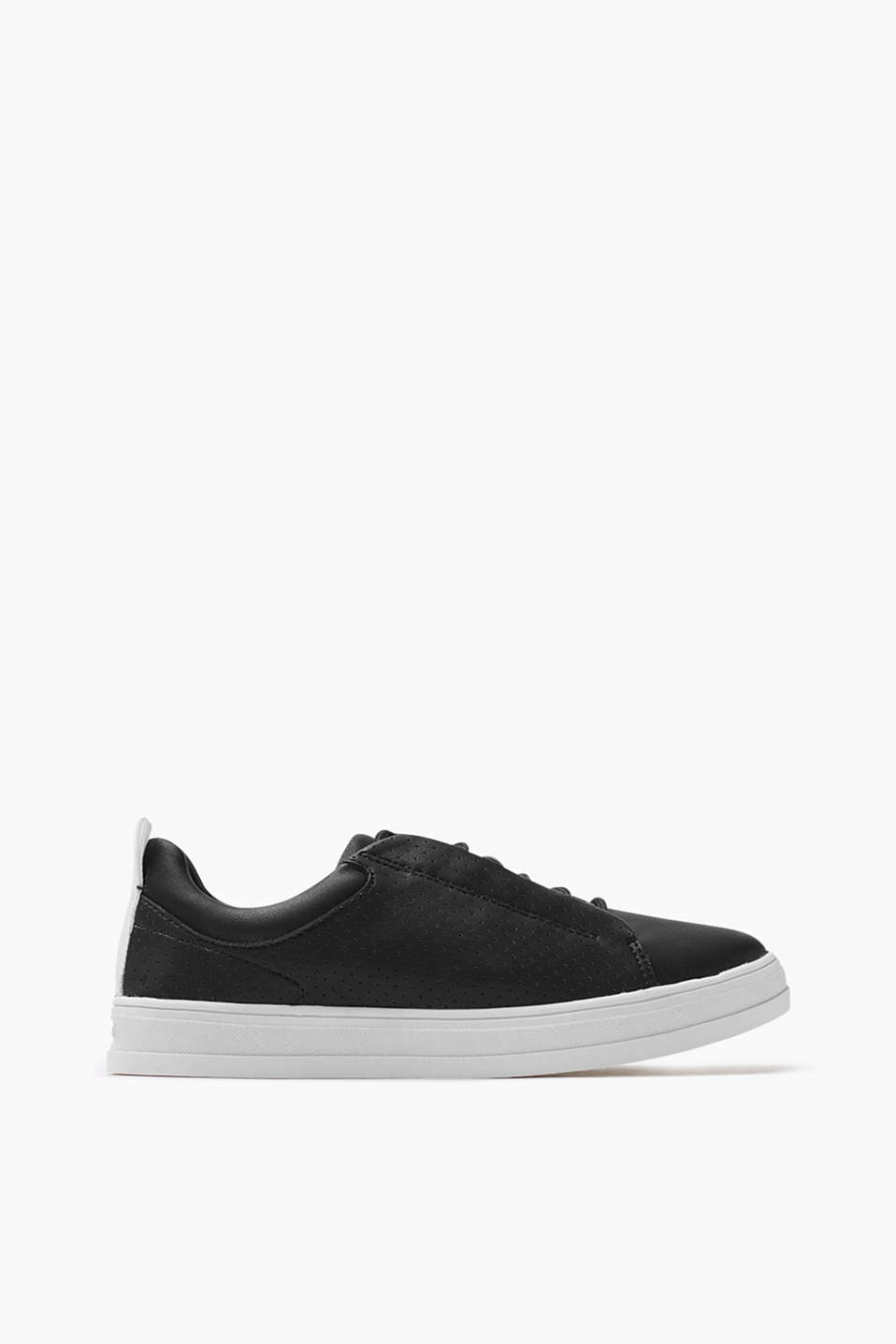 Trendy trainers in smooth imitation leather