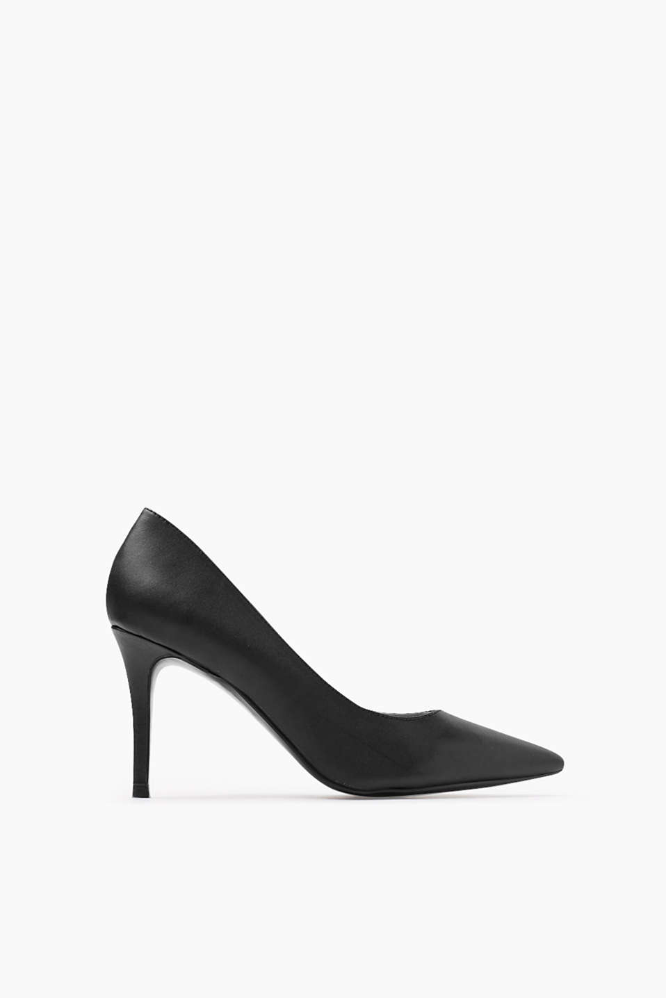 with a pointed toe and a high heel (approx. 10 cm)