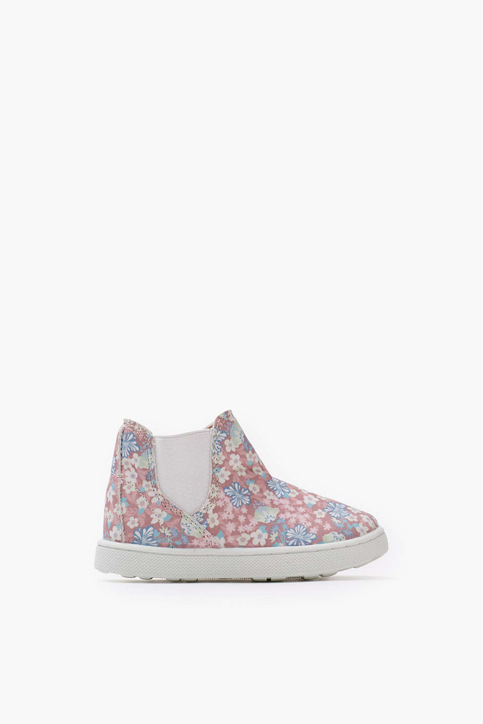 High-tops with comfortable stretchy inserts and a pretty floral pattern