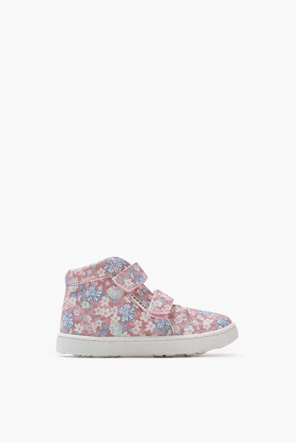 Velcro fastening high-tops in a pretty floral pattern