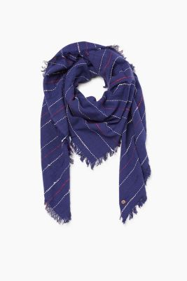 Woven scarf in a soft cotton blend