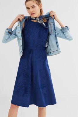 edc - Midi-Kleid in Velours-Optik im Online Shop kaufen