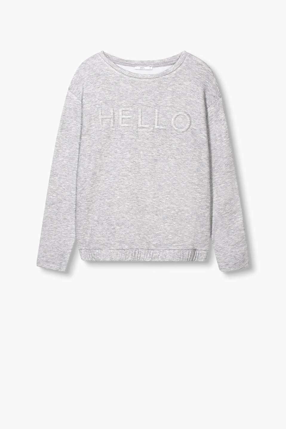With raised lettering and an elasticated waistband: sweatshirt in a stretchy viscose blend.