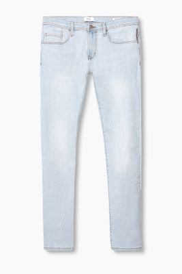 Washed-effect 5 pocket jeans