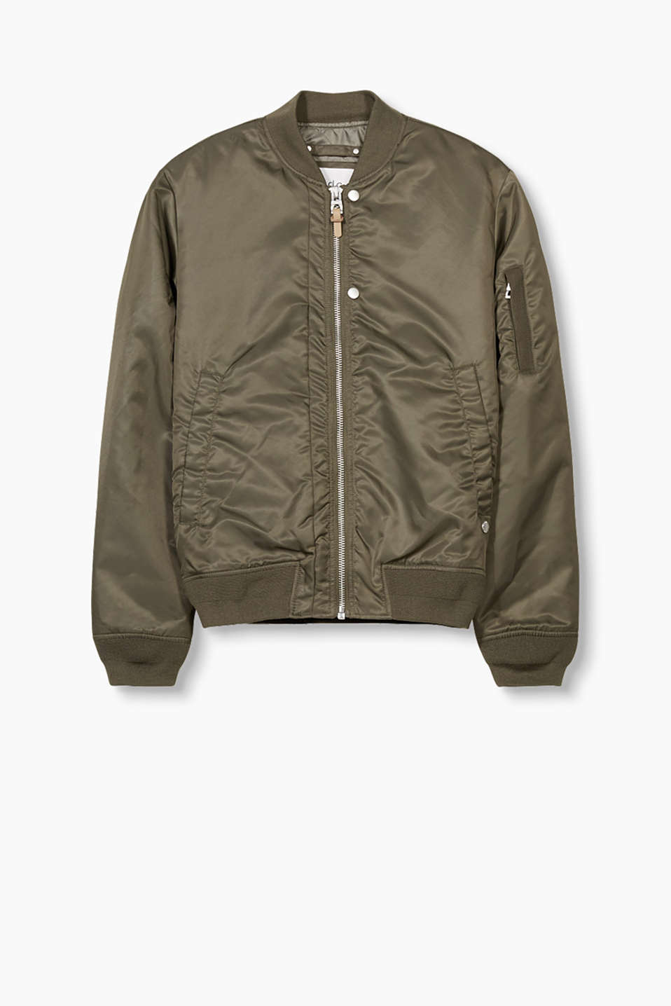 Twill jacket in a bomber style, for fine-tuning your urban look