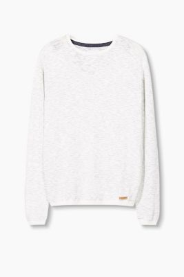 Lightweight jumper in blended cotton