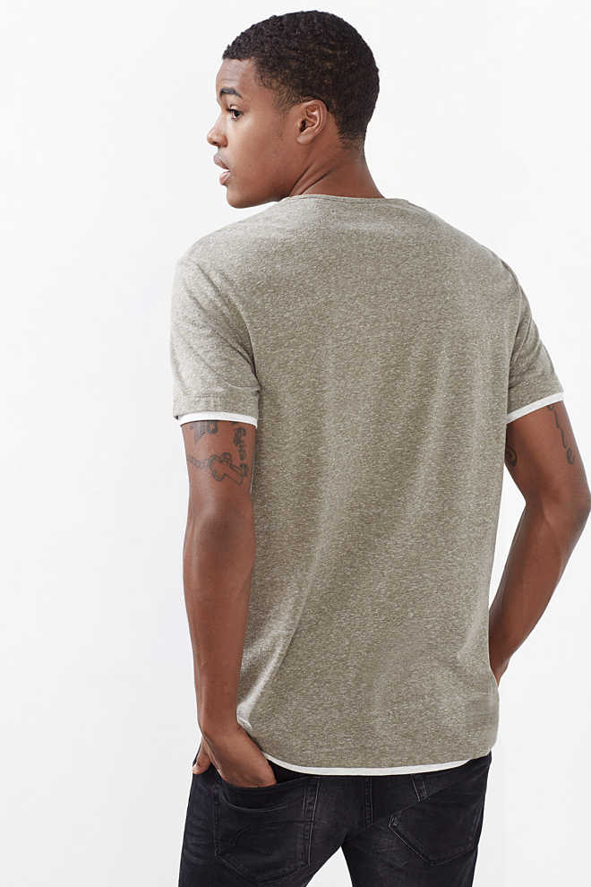 EDC / Layered-effect jersey T-shirt
