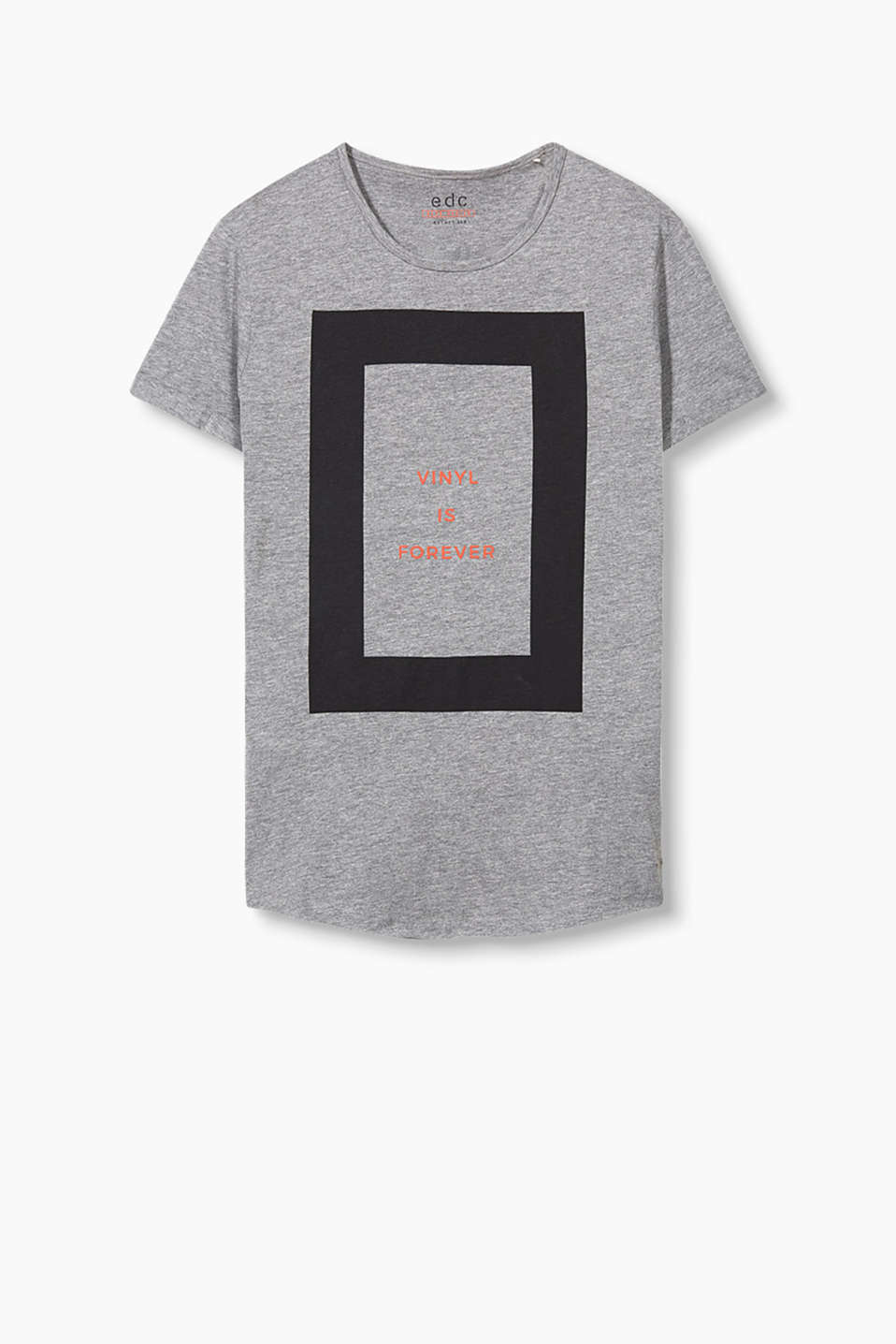 T-shirt with a graphic print and statement in 100% cotton