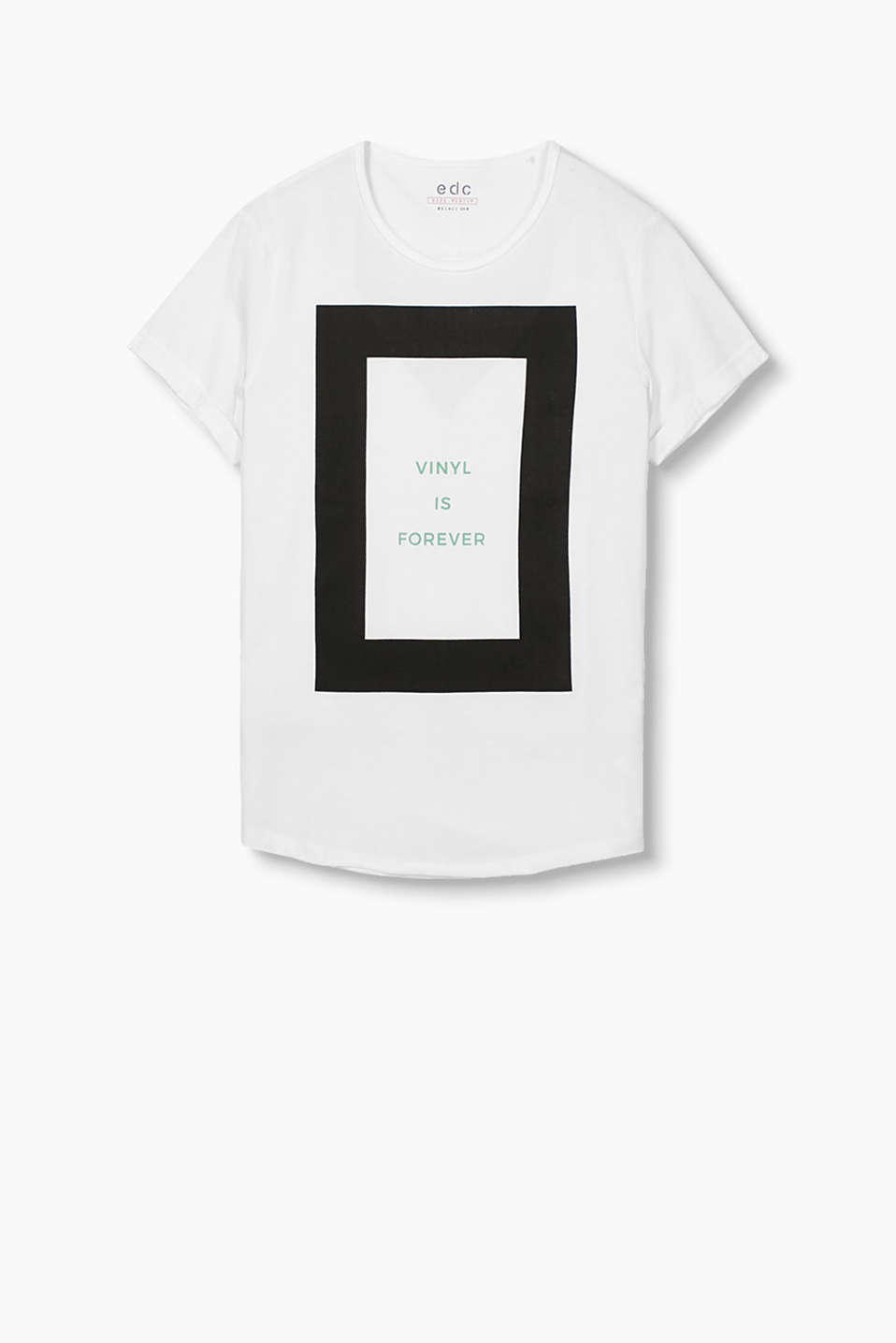 Made of 100% cotton: T-shirt with a graphic print and statement