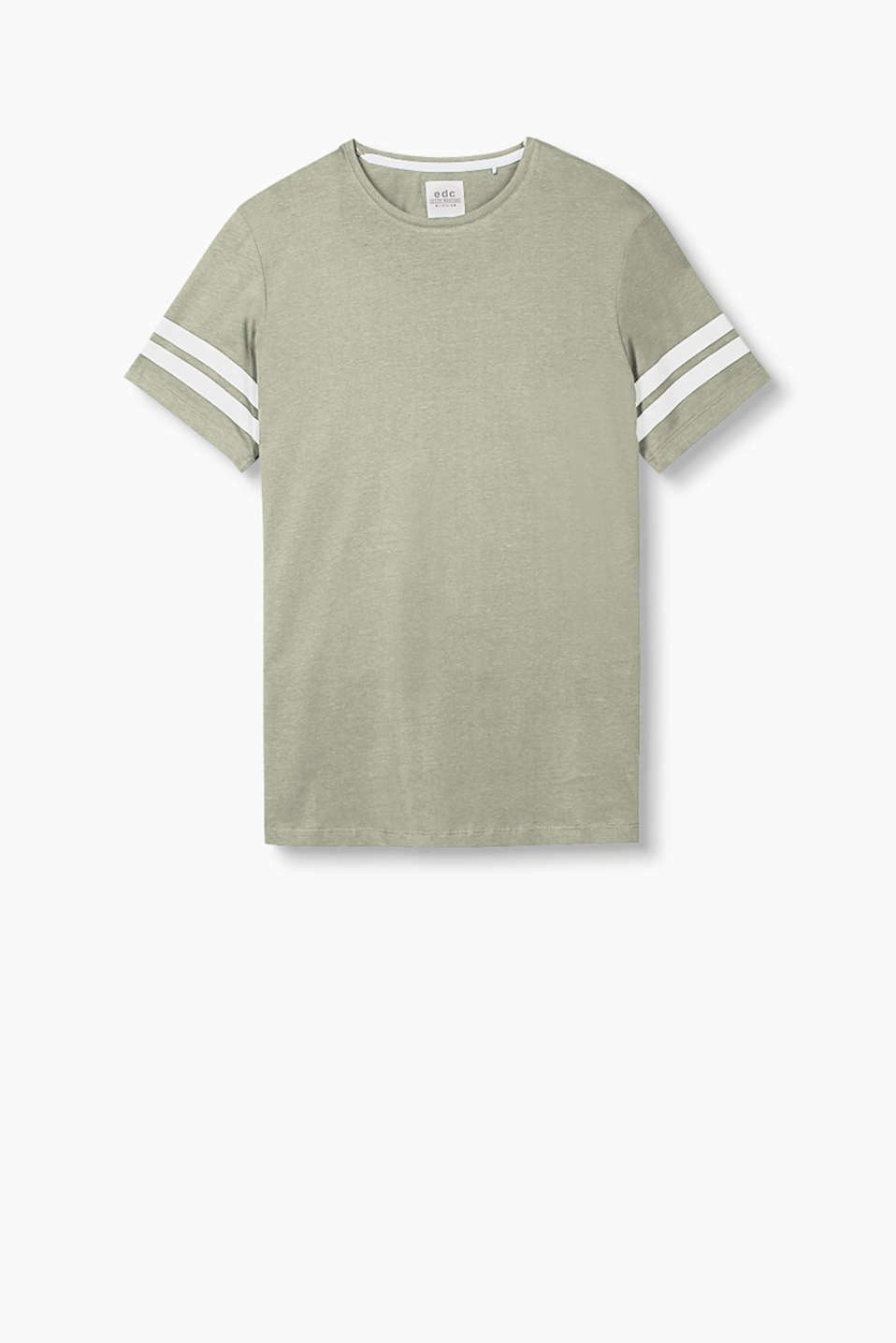 Pure cotton T-shirt with a distinctive print on the sleeves