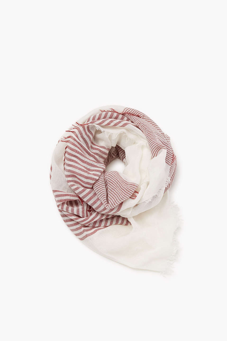 XXL scarf made of soft, lightweight woven fabric with a percentage of wool
