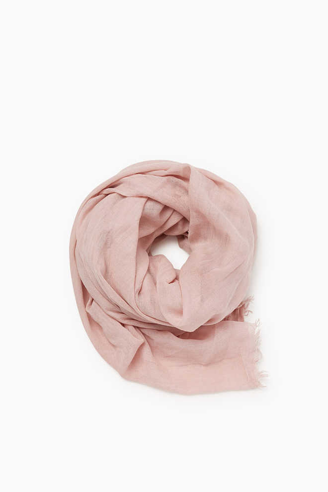 Esprit / Crushed, washed-effect scarf