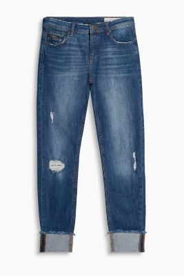 Vintage look jeans with fixed turn-ups