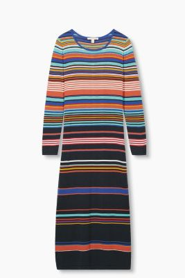 Multicolour-Strickkleid, 100% Baumwolle