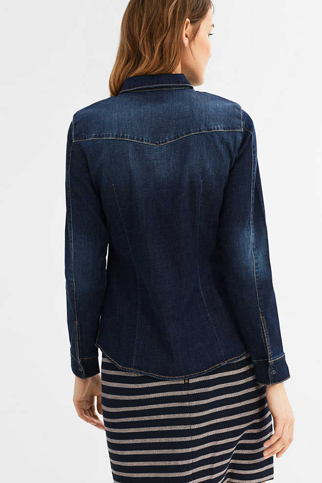 Esprit / Bluse aus Stretch-Denim
