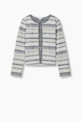 Offener Sweat-Cardigan, Baumwoll-Mix