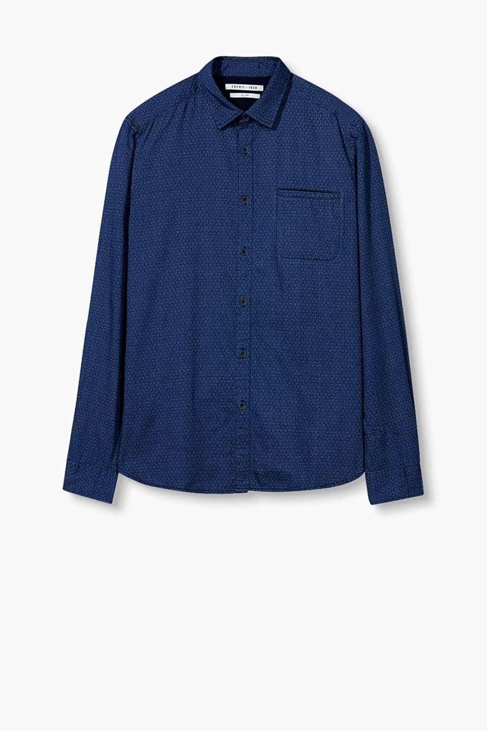 Casual boho style: shirt with an inset breast pocket