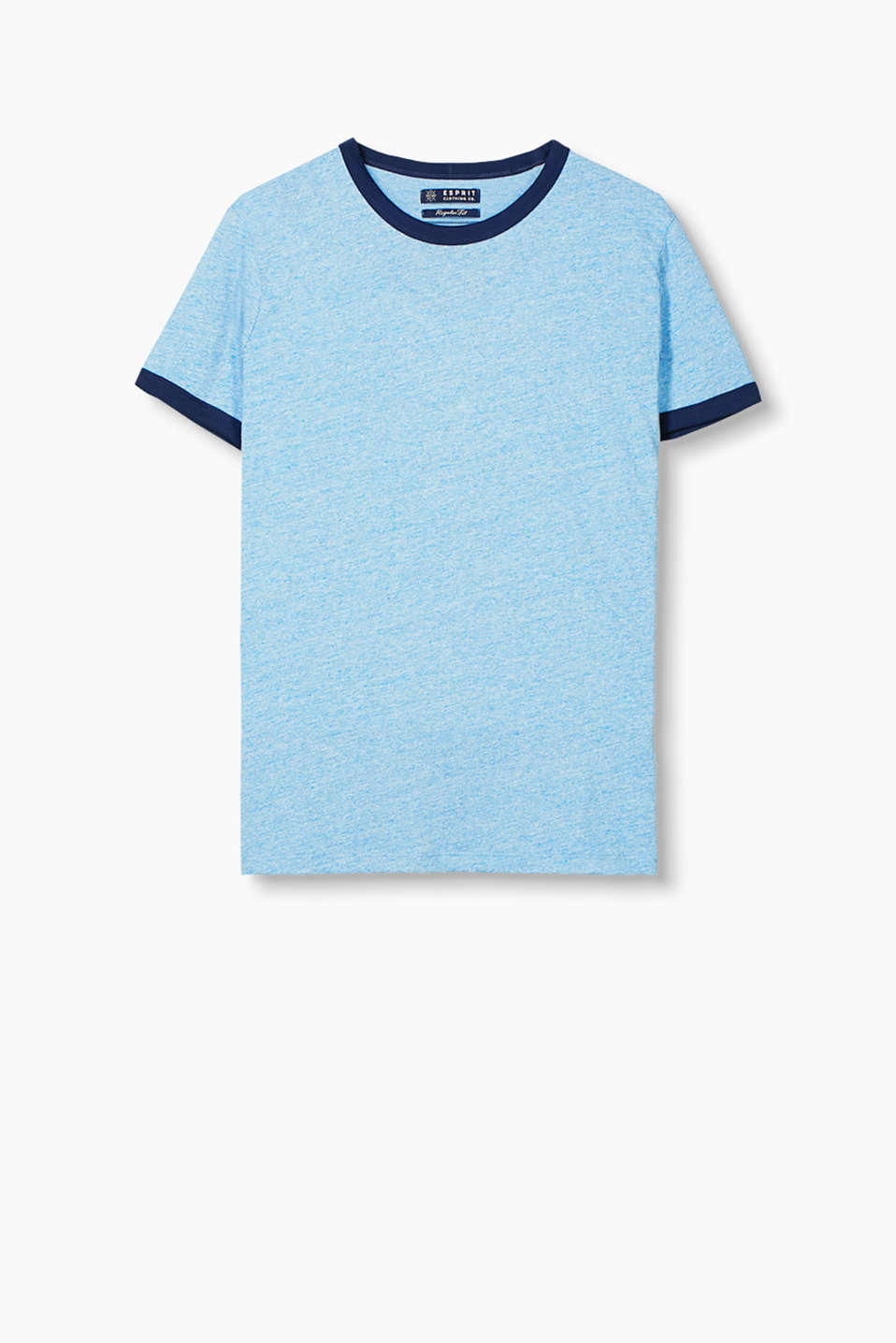 Cool retro look: T-shirt with contrast piping, in blended cotton