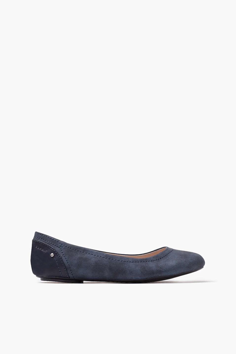 Sporty faux leather flats, PeTa-certified, VEGAN