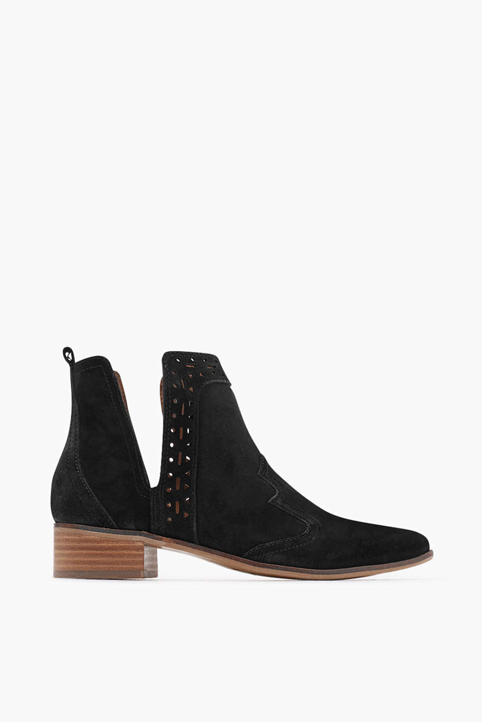 Chelsea boots in a pointed design with cowboy details